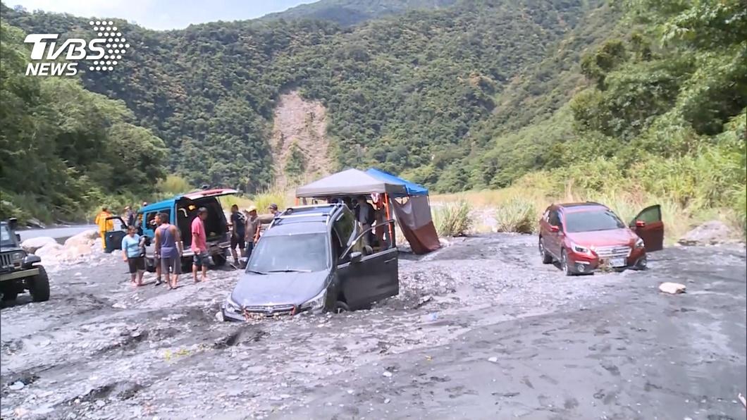 交通部觀光局初步調查,表示這不是合法露營區。(圖/TVBS) 武界壩下游露營客被沖走釀死 疑非法露營區