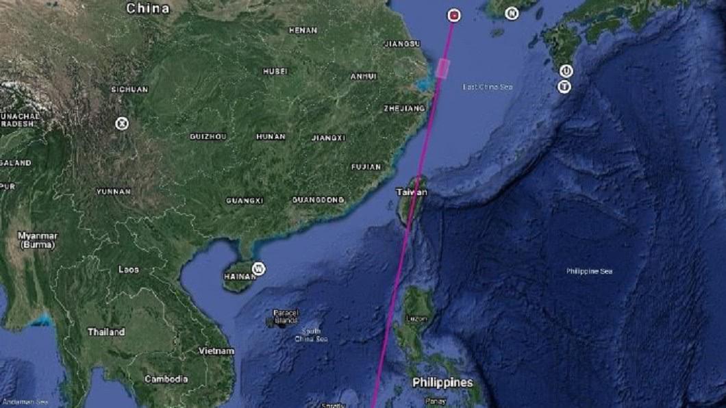 (圖/翻攝自CHINA航天」微博) 挑釁!陸今海上發射長征火箭 強調飛過台灣島上空