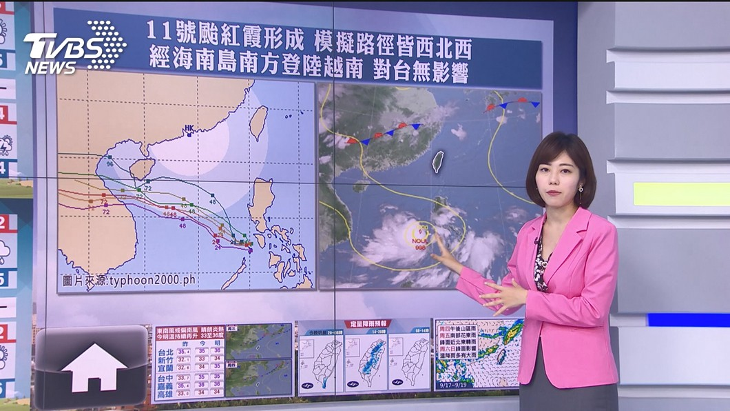 "Photo/TVBS Typhoon ""Hongxia"" is generated!  Autumn tigers show their glory everywhere is sunny and hot"