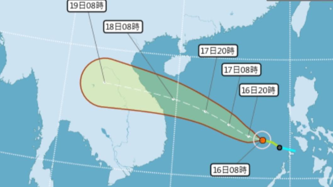 圖/中央氣象局 快訊/輕颱紅霞生成! 路徑直撲越南、對台無影響