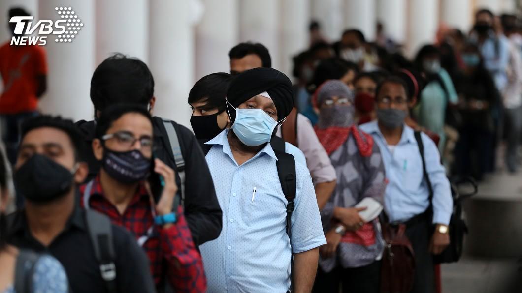 印度疫情不斷惡化,11天內增加了100萬例。(圖/達志影像路透社) 短短11天增百萬確診! 印度新冠肺炎破500萬例