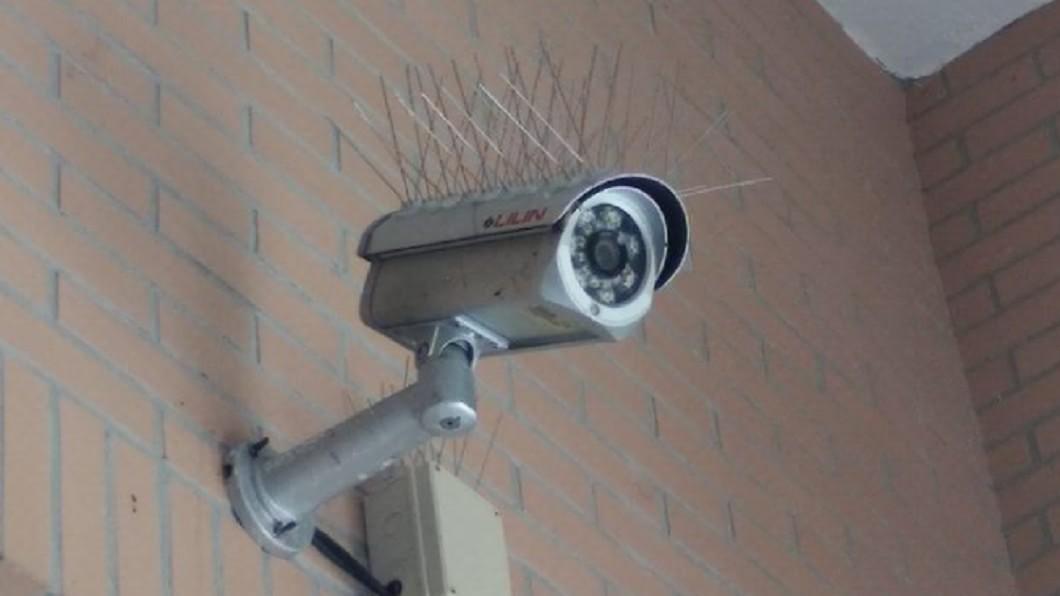圖/翻攝自新·路上觀察學院 「監視器頭頂插滿尖針」驚呆他 內行揭真實用途