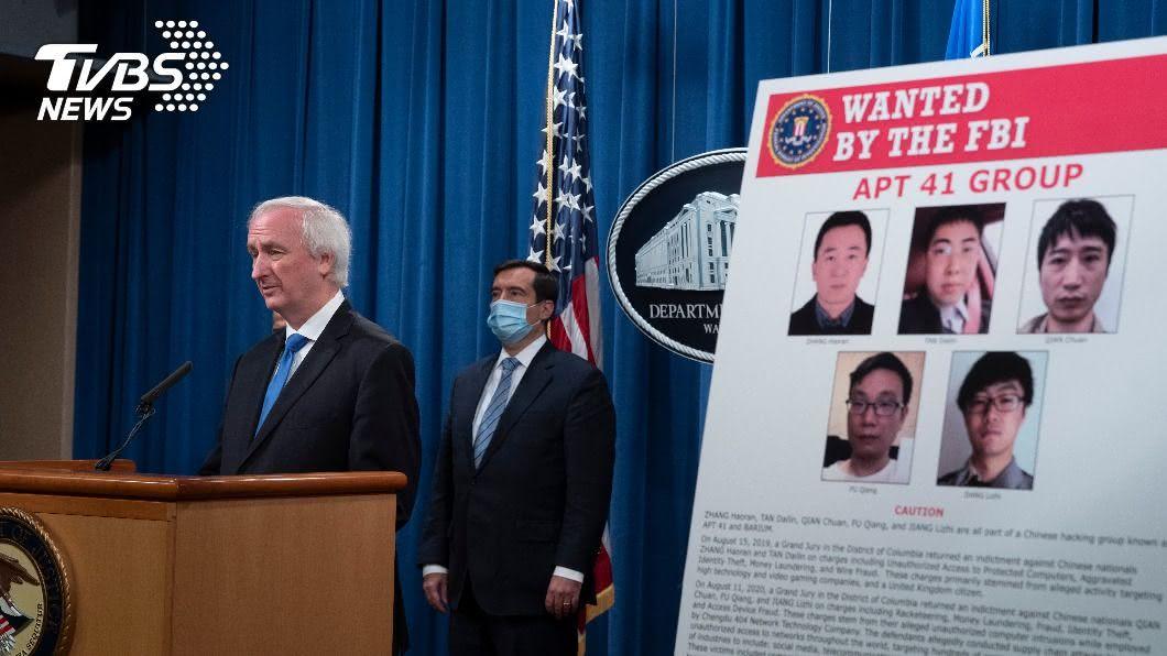 圖/達志影像美聯社 美起訴5陸駭客 6.7萬台灣學生個資外洩