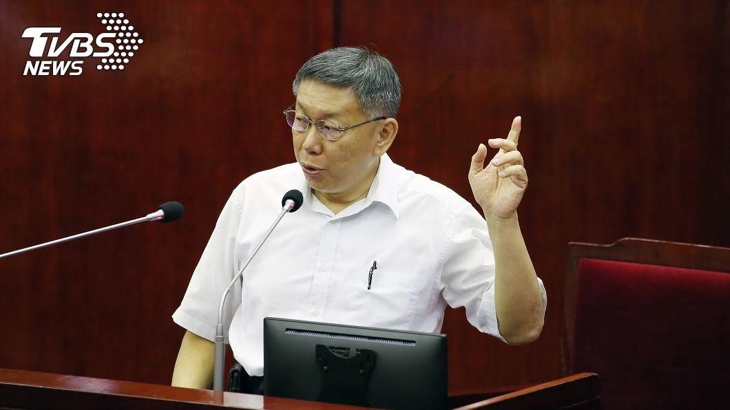 台北市長柯文哲。(圖/中央社) 想過角逐2024總統大選? 柯文哲:我是直接準備