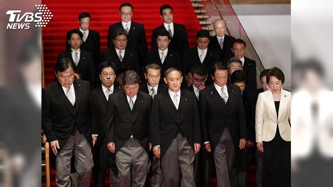 菅義偉內閣支持率逾6成。(圖/達志影像美聯社) 菅義偉內閣支持率逾6成 高於安倍剛上台時