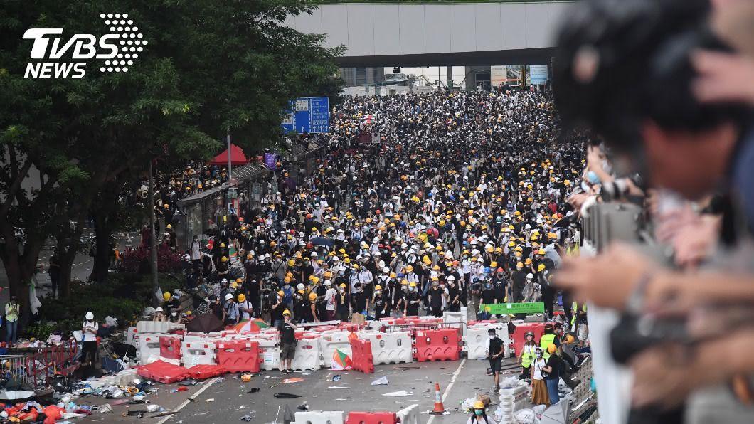 (圖/中央社) 受反送中運動影響 過半民眾不信任香港司法