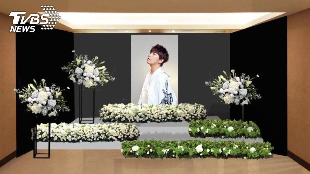 (圖/TVBS) 小鬼遺照公開!靈堂布置「純白系」 鮮花伴最後一程