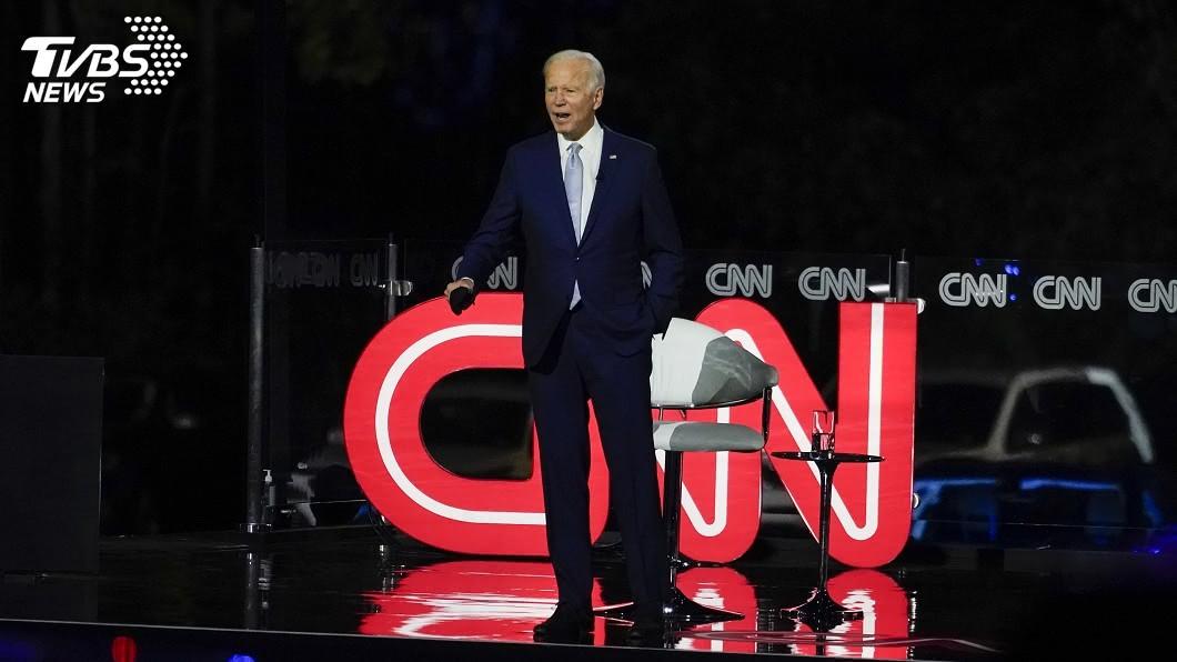 CNN為拜登辦露天汽車市民大會。(圖/達志影像美聯社) CNN為拜登首辦露天汽車市民大會 川普酸防疫怪招