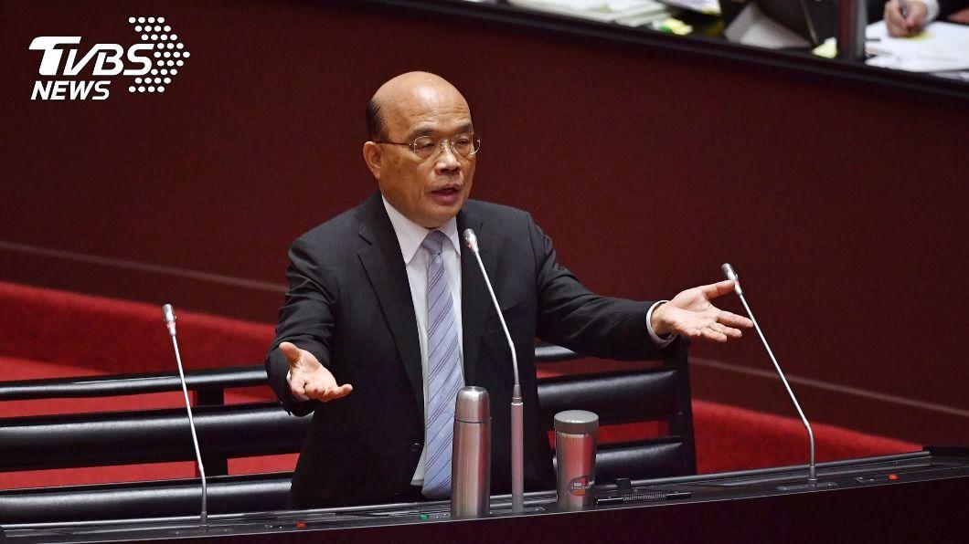 行政院長蘇貞昌。(圖/中央社) 綠指D-DAY已到蘇揆27日一定上台 藍嗆全力抵擋