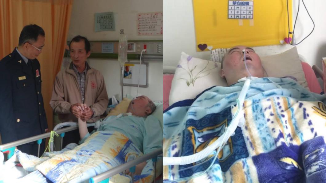 圖/翻攝自臉書嘉義縣警察局 勇警遭爆頭成植物人23年 老父哭紅眼…床邊伴最後一程