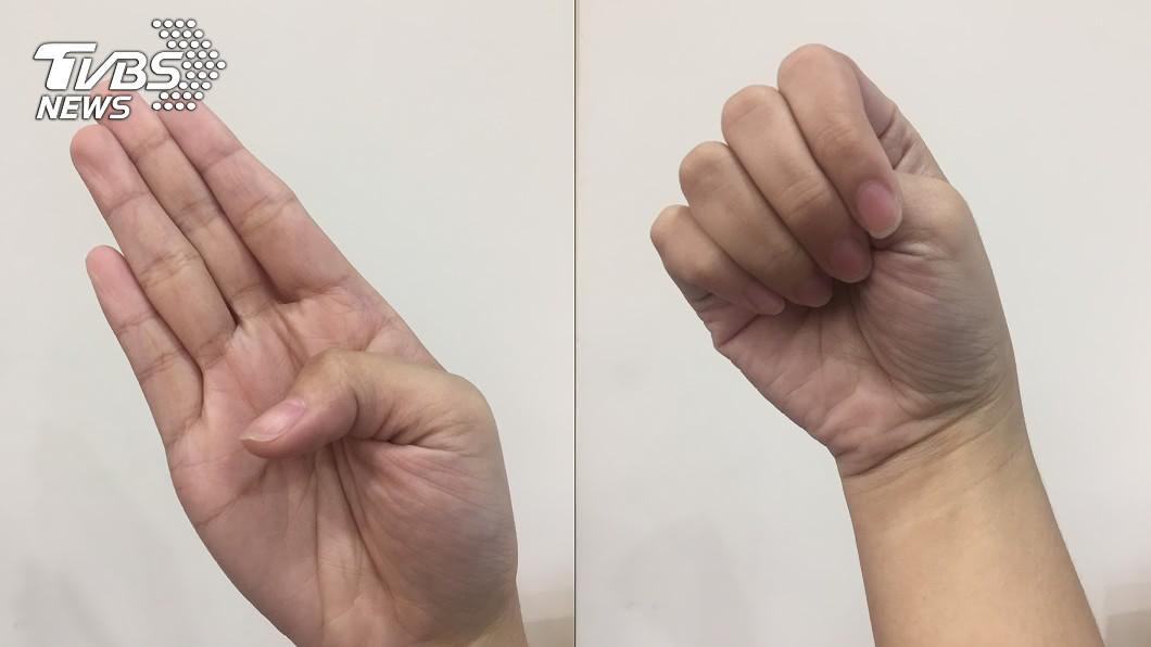 醫生分享手指檢測法,1秒測出自己是否為高危險族群。(圖/TVBS) 伸手1秒測「主動脈剝離」高危險群 醫曝:心像被撕裂