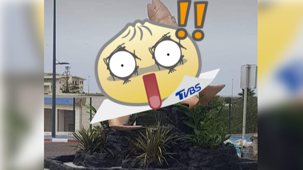 摩洛哥一座雕像因外型引起爭議。(圖/翻攝自《每日郵報》) 飛魚雕像激似「男性器官」 民眾氣炸:根本是色情魚