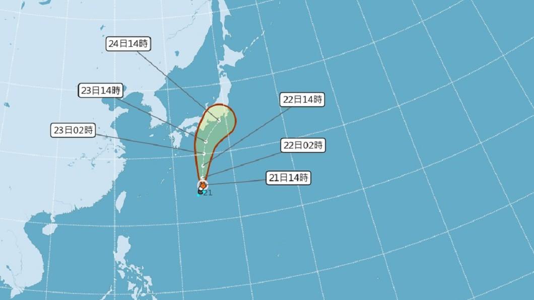 (圖/中央氣象局) 今年第12號颱風「白海豚」生成 最新路徑曝光