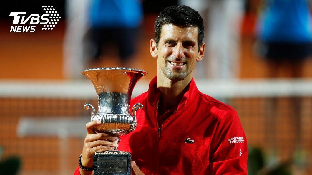 喬科維奇贏得破紀錄的第36座大師賽金盃。(圖/達志影像路透社) 羅馬大師賽喬科維奇奪冠 替法網做好暖身