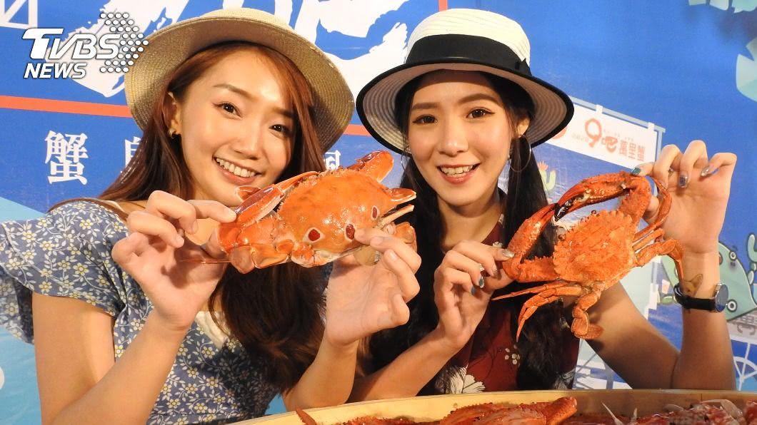 新北萬里蟹產季熱鬧起跑。(圖/中央社) 秋天就是要吃蟹!新北「萬里蟹」產季開跑