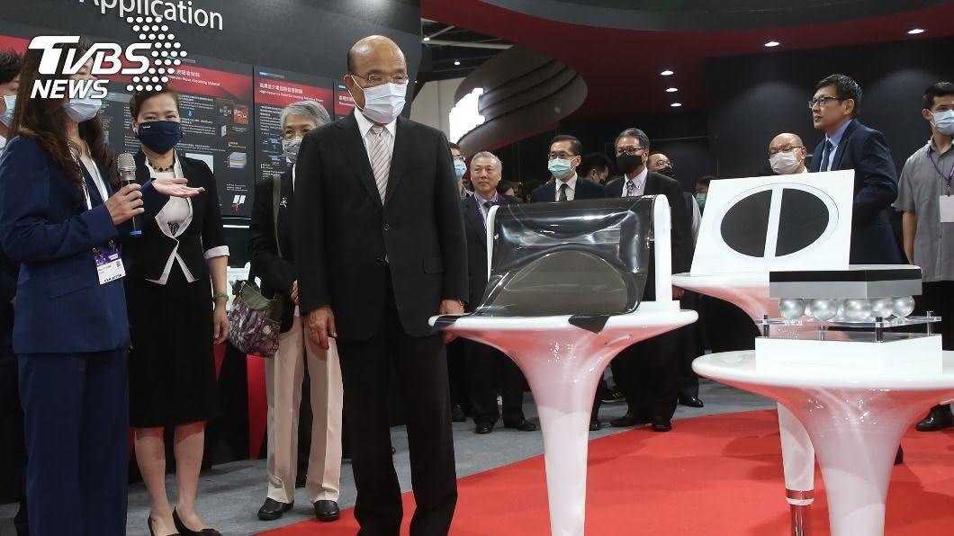 蘇貞昌出席國際半導體展。(圖/中央社) 半導體展登場 蘇貞昌:台灣是發展產業好基地
