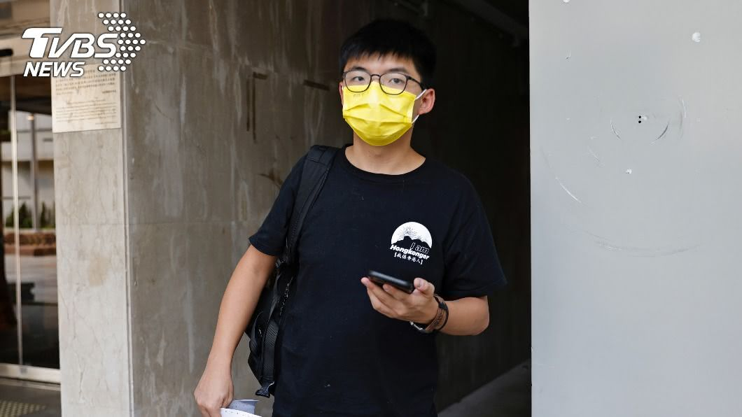 圖/達志影像路透社 快訊/涉非法集會、違「反蒙面法」 黃之鋒再次被捕