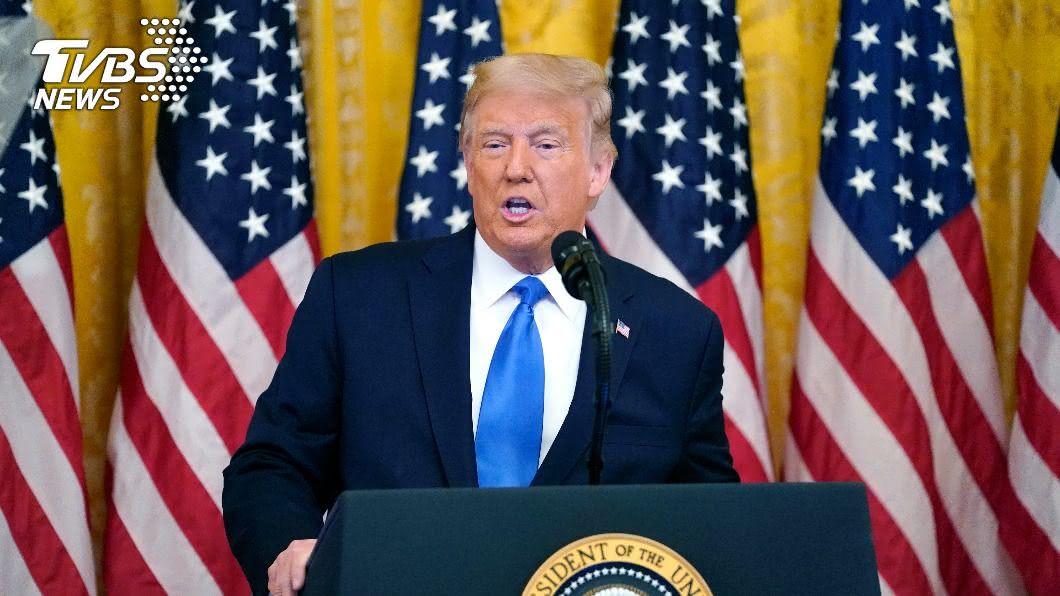 美國總統川普。(圖/達志影像美聯社) 指2020大選恐爆爭議 川普:需補齊第9位大法官