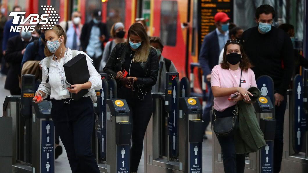 英國單日逾6千人染疫創新高。(圖/達志影像路透社) 英國單日逾6千人染疫創新高 第二波疫情來勢洶洶