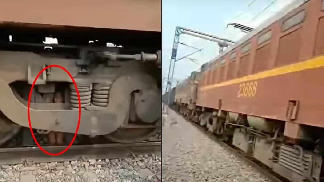 男童遭火車高速輾壓,卻奇蹟生還。(圖/翻攝自Grupo de medios YouTube) 火車輾壓2歲童…「啊」一聲沒了!奇蹟卡引擎存活亂跳