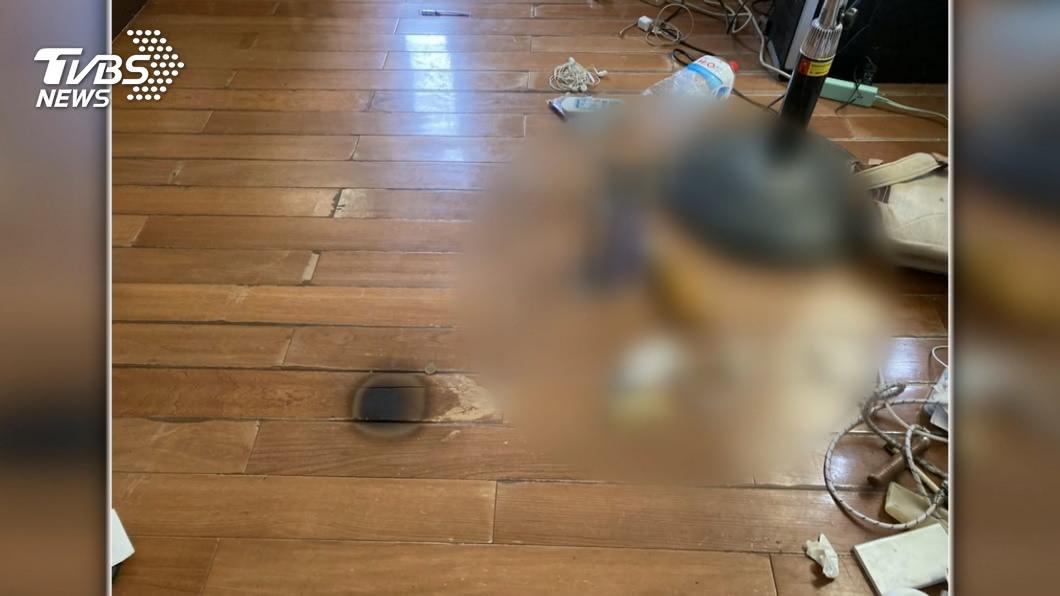 台中市大甲區一家三口燒炭後獲救。(圖/TVBS) 台中一家三口燒炭獲救 警:將釐清父母有無刑事責任