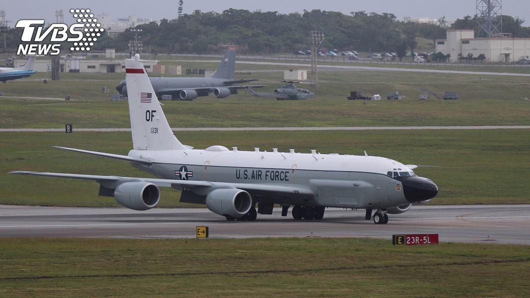 大陸指控美軍變更機上識別碼為菲國軍機,圖為沖繩美軍的RC-135。(圖/中央社) 轟美軍「假扮菲國飛機」 陸外交部:今年已逾百次
