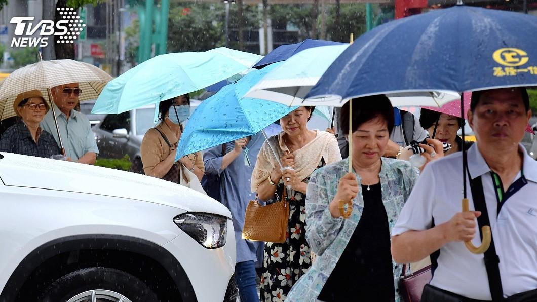(圖/中央社) 北東26日稍涼局部雨 午後中南山區雷陣雨