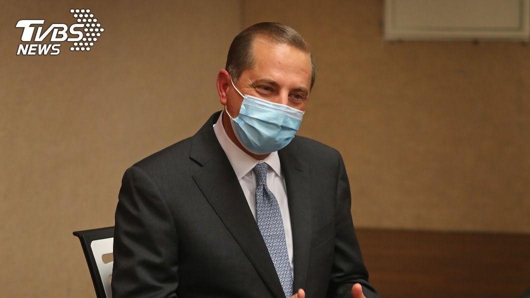 美國衛生部長阿札爾日前訪台。(圖/中央社) APEC衛生經濟會議 阿札爾拍影片大讚「台灣模式」