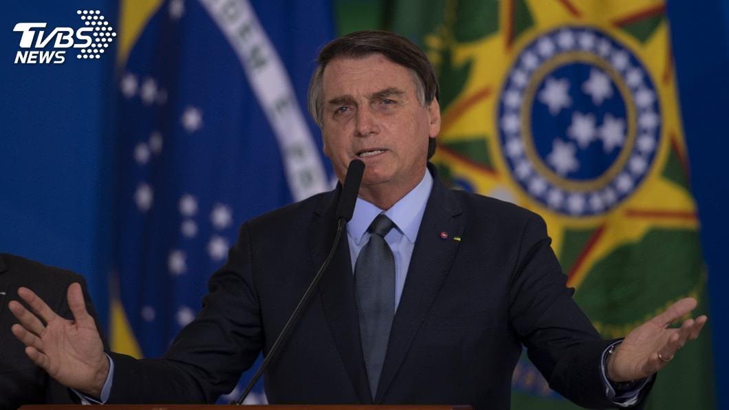 巴西總統波索納洛。(圖/達志影像美聯社) 7月才染疫確診 巴西總統接受膀胱結石手術