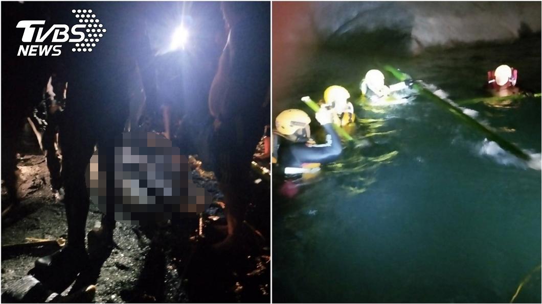 (圖/TVBS) 又是武界壩!釣客溺斃4死案附近 搜救畫面曝光