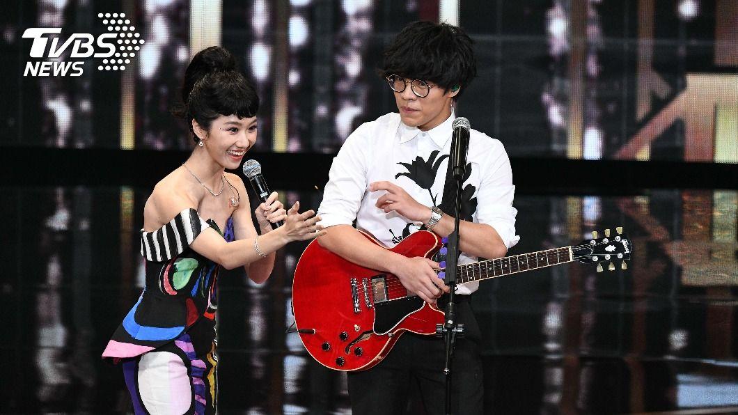 Lulu、盧廣仲。(圖/三立電視提供) 金鐘55/Lulu、盧廣仲好尷尬!一開口完美歌聲救場