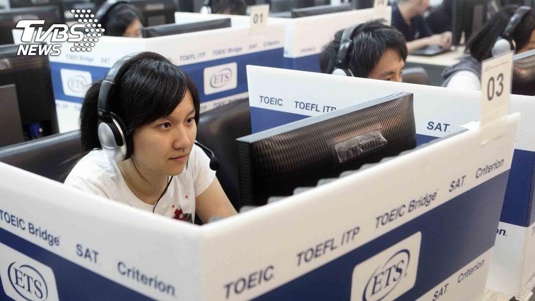多益普及口說測驗首度在台灣舉行考試。(圖/中央社) 多益普及口說測驗開考 中小學教師先體驗