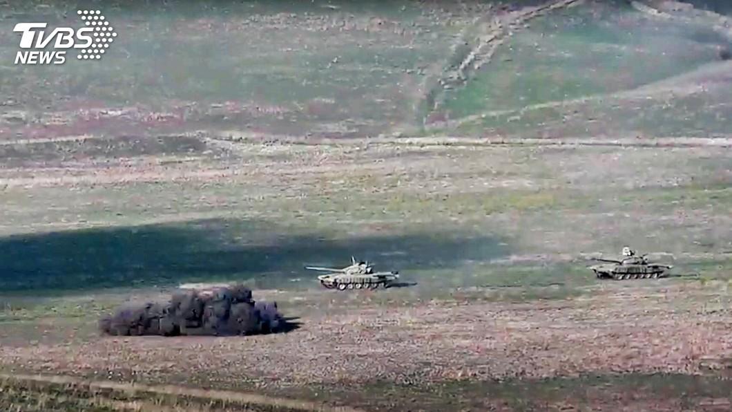 亞塞拜然跟亞美尼亞族分離主義勢力爆發激戰。(圖/達志影像美聯社) 高加索爭議區衝突增至23死 聯合國呼籲立即停火