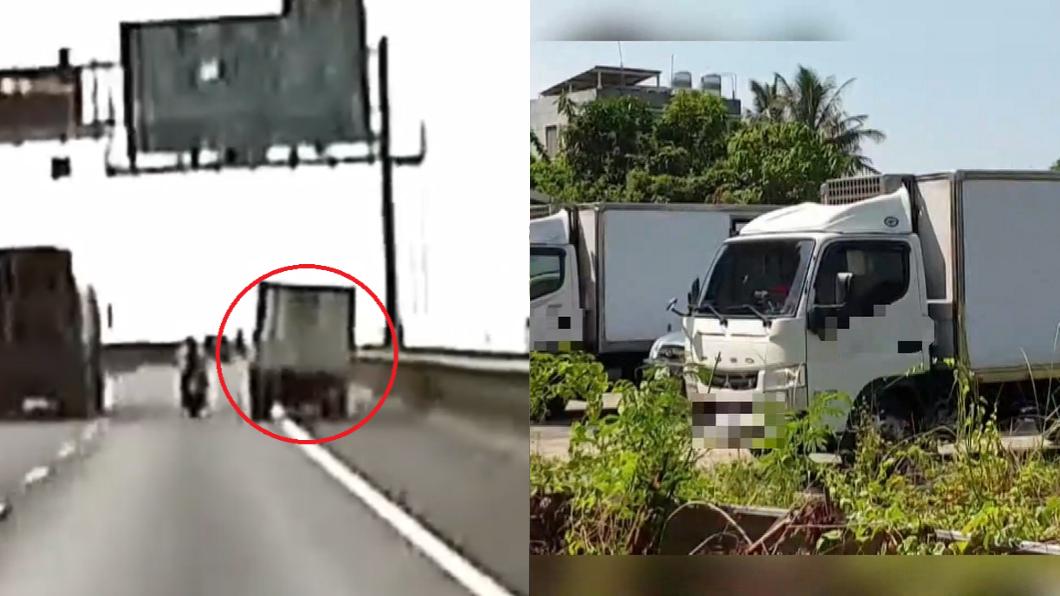圖/TVBS 「謀殺級超車」撞翻重機!網揚言出征 水產行嚇壞急關門