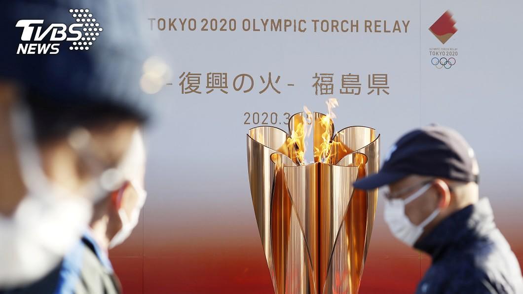 東奧聖火傳遞將從明年3月25日開跑。(圖/達志影像路透社) 東京奧運延後一年 聖火傳遞明年3/25開跑