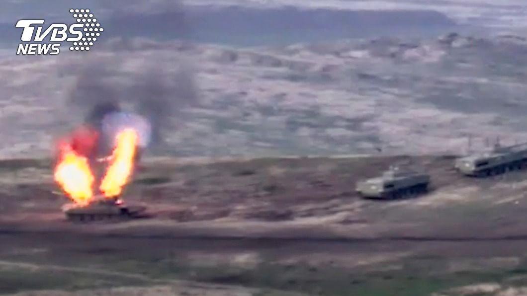 亞塞拜然與亞美尼亞再爆戰火。(圖/達志影像美聯社) 亞塞拜然、亞美尼亞重啟戰端 來龍去脈一次看