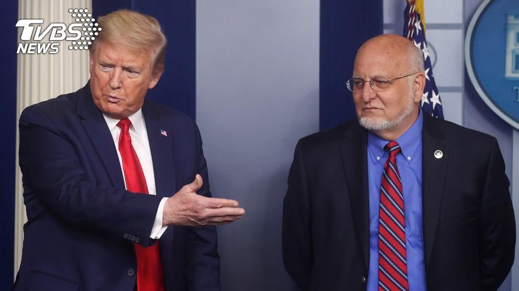 美CDC主任與川普唱反調,稱疫情「距離結束還很遠」。(圖/達志影像路透社) 和川普唱反調 美CDC主任:距離疫情結束還很遠