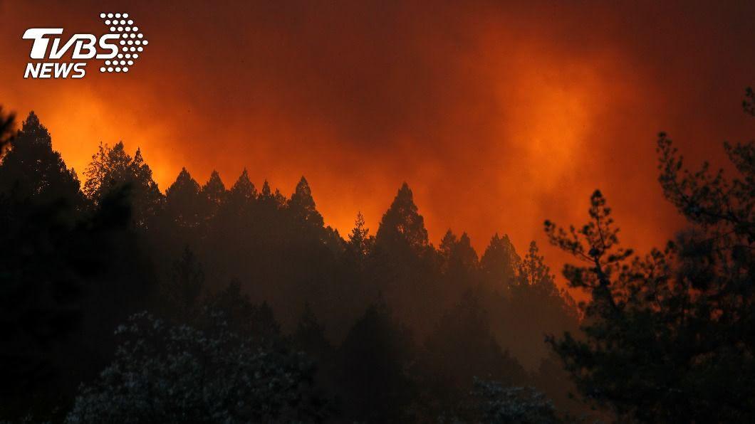 加州野火延燒酒莊,上萬民眾被迫撤離家園。(圖/達志影像路透社) 加州野火每5秒燒1英畝 吞噬酒莊數萬人撤離