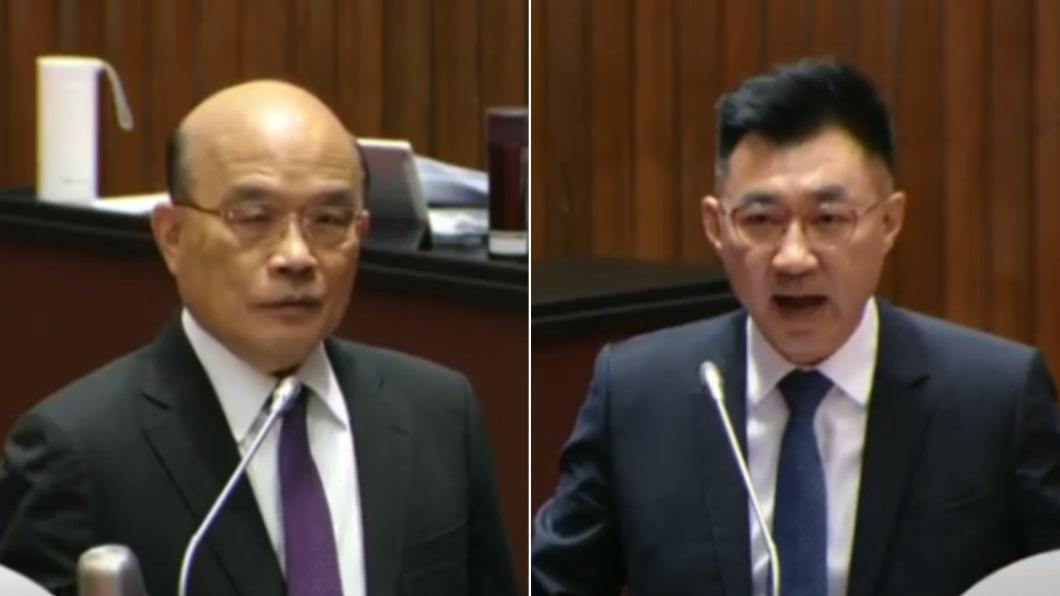 (圖/翻攝自YouTube/國會頻道) 食安會報已停開15個月!江啟臣連4次質問 蘇貞昌語塞