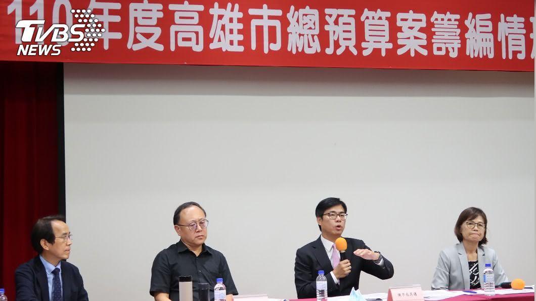 陳其邁出席議會,說明民國110年的總預算。(圖/中央社) 陳其邁總預算說明 國民黨議員批沒亮點