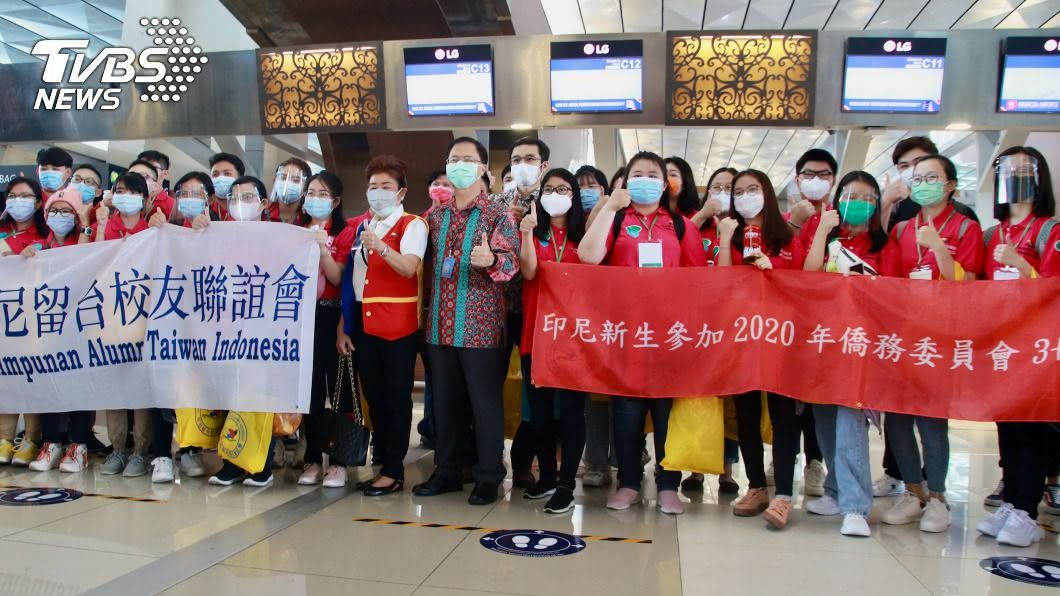 印尼僑生獲准入境台灣。(圖/中央社) 印尼僑生興奮赴台就學 入學前居家隔離並篩檢