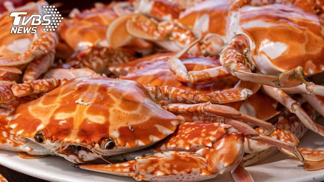 新北進入萬里蟹盛產的季節。(圖/中央社) 肥美萬里蟹正當時! 野柳市集生猛開賣