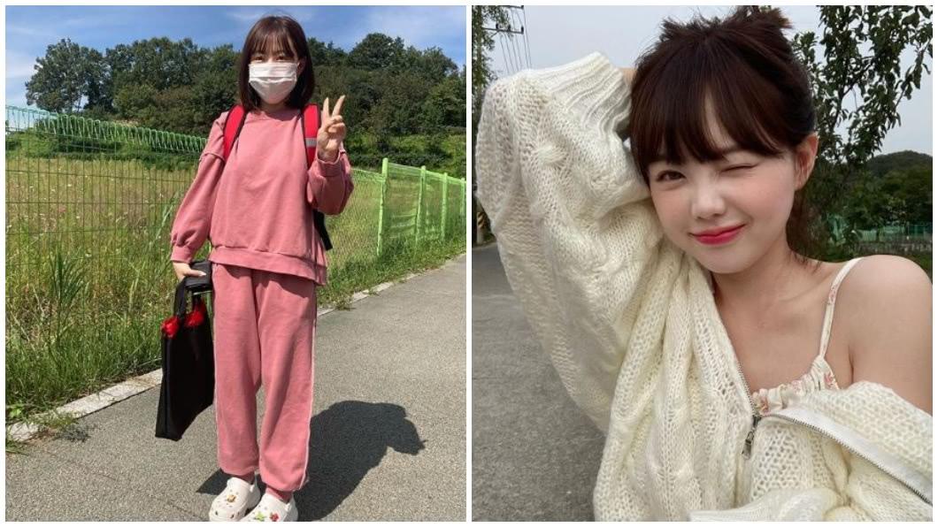 韓國一名童顏正妹,外貌看起來像個小學生,事實上她已經28歲了。(合成圖/翻攝自IG) 常被誤認是小學生 28歲童顏正妹已是2個孩子的媽