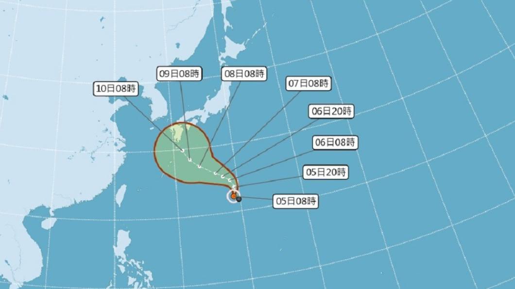 第14號颱風昌鴻形成。(圖/中央氣象局) 颱風昌鴻形成!移動緩慢是否影響台「7、8日是關鍵」
