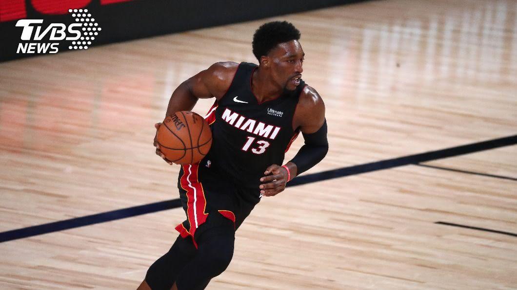 熱火中鋒阿德巴約。(圖/達志影像路透社) NBA總冠軍賽第4戰 熱火阿德巴約有機會復出