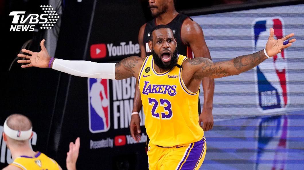 NBA湖人超級球星詹姆斯。(圖/達志影像美聯社) 詹姆斯第9度季後賽破500分 超越喬丹躍居史上第一