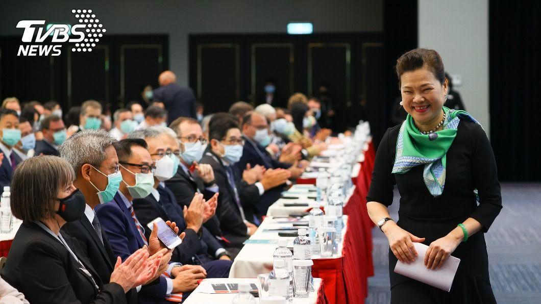 經長王美花出席台灣全球招商論壇。(圖/中央社) 今年前8月外資動能略減 經長努力中盼年底好成績