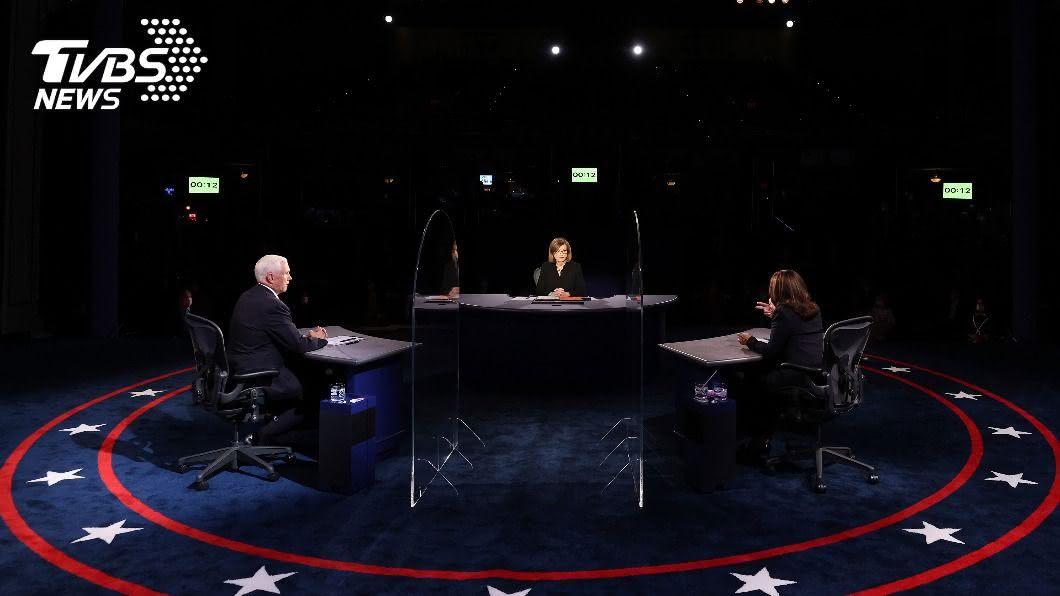 主持人一開場就要求副總統彭斯與民主黨副總統候選人賀錦麗注意禮貌。(圖/達志影像美聯社) 美副總統辯論 主持人開場白就說:請注意禮貌