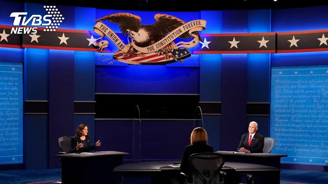 美國副總統候選人辯論。(圖/達志影像美聯社) 賀錦麗稱美貿易戰敗 彭斯反譏對手中共支持者