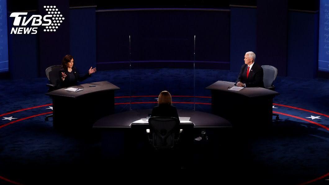 美副總統候選人辯論。(圖/達志影像路透社) 美國副總統辯論文明對決 政策議題針鋒相對